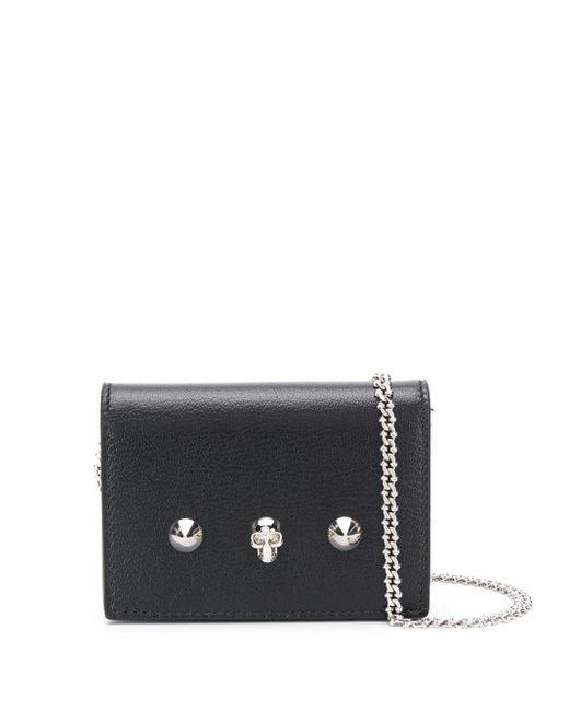 Мини-сумка С Декором Skull And Stud Alexander McQueen, цвет: Black