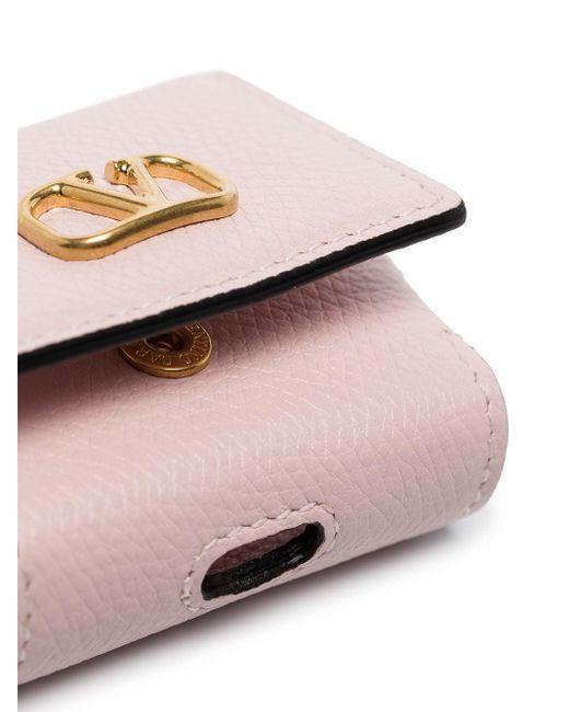 Valentino Garavani Vロゴ Signature イヤホンケース Pink