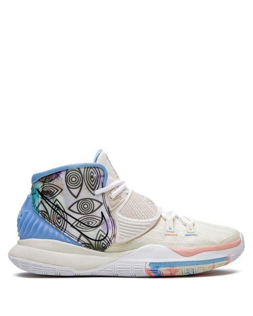 Nike White Kyrie 6 Pre Heat Sneakers for men