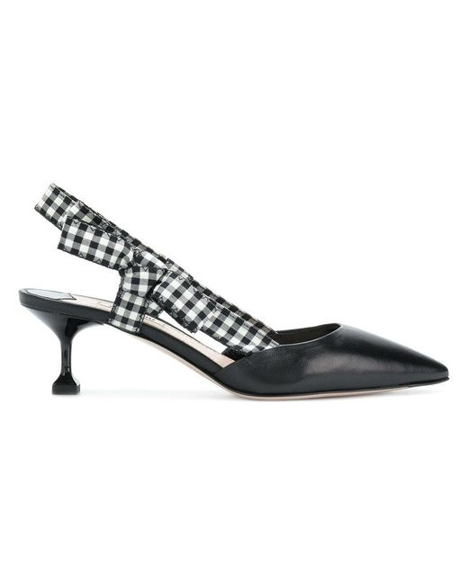 Miu Miu Gingham detail pumps Pfb5X