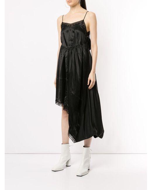 Robe évasée à ourlet asymétrique MM6 by Maison Martin Margiela en coloris Black