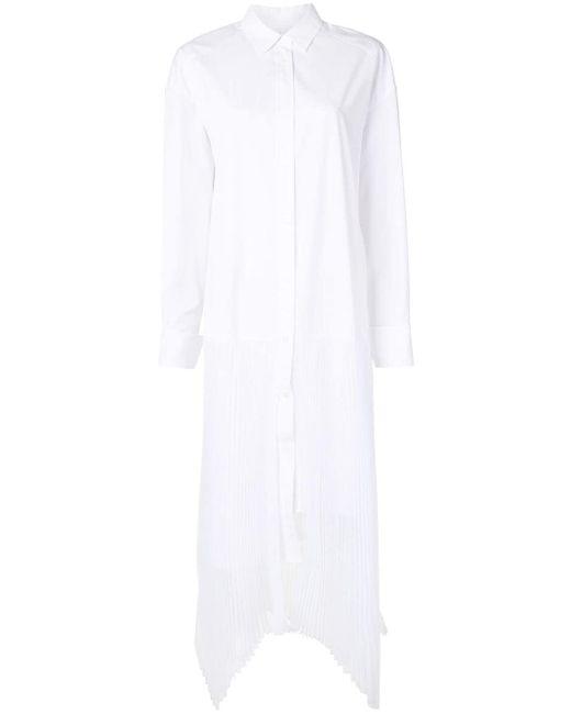 Juun.J プリーツ シャツドレス White