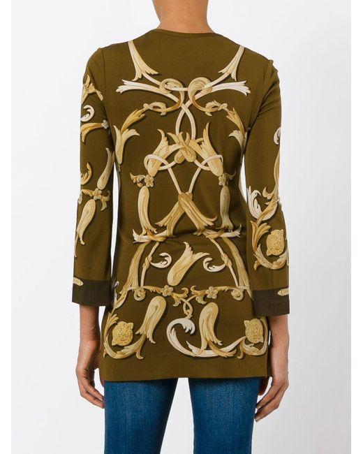 Длинная Блузка С Логотипом Hermès, цвет: Brown