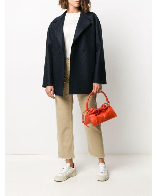 Harris Wharf London オーバーサイズ ウールジャケット Blue