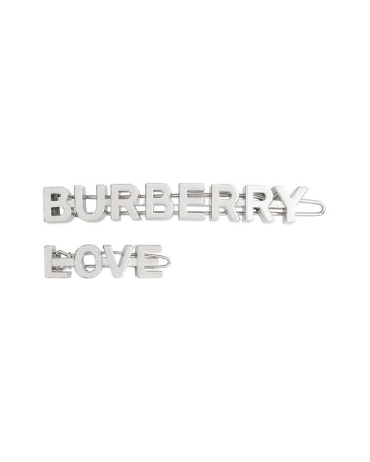 Burberry ロゴ ヘアクリップ Metallic