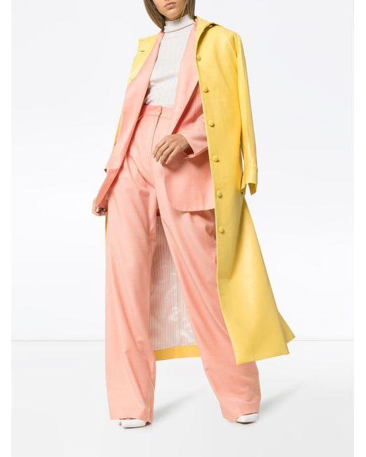 Pantalon ample à taille haute Matériel en coloris Pink