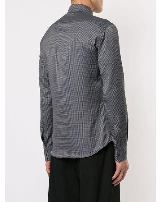 Camisa con cuello alto Emporio Armani de hombre de color Black