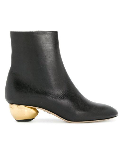 Paul Andrew - Black Contrast-heel Boots - Lyst