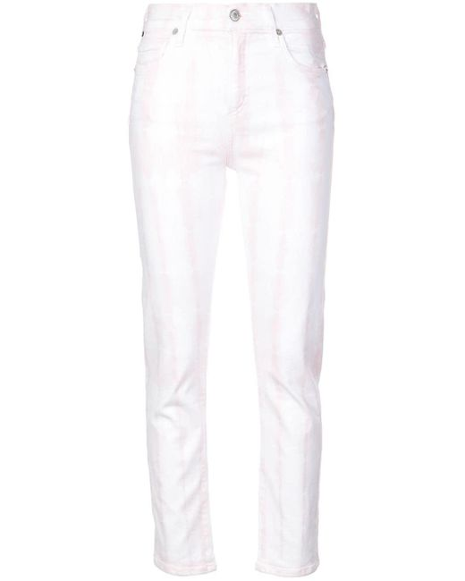 Citizens of Humanity White Skinny Tie Dye Jeans