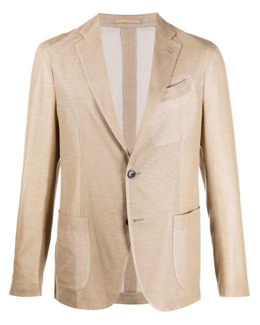 メンズ Lardini シングルジャケット Natural