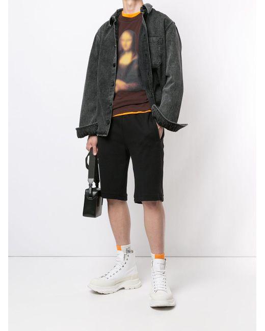 Off-White c/o Virgil Abloh T-Shirt mit Mona-Lisa-Print in Multicolor für Herren