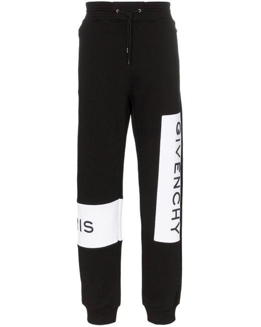 メンズ Givenchy ロゴ スウェットパンツ Black