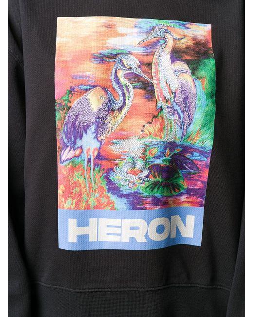Heron Preston グラフィック スウェットシャツ Black