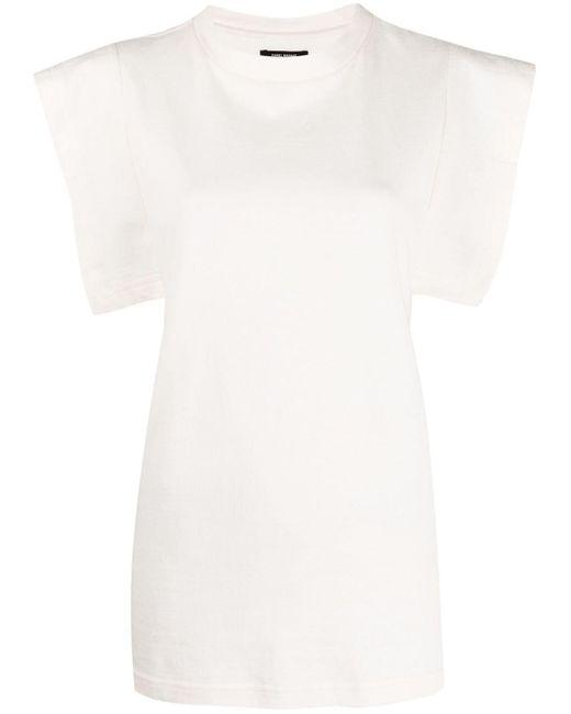 Camiseta con manga cuadrada Isabel Marant de color White