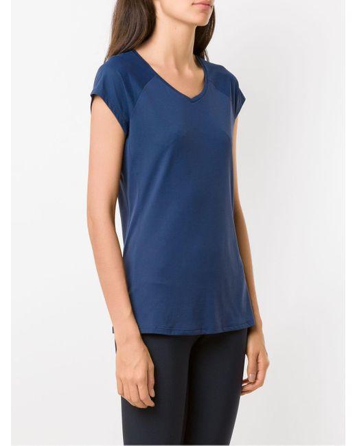 Lygia & Nanny T-shirt Race Skin femme de coloris bleu