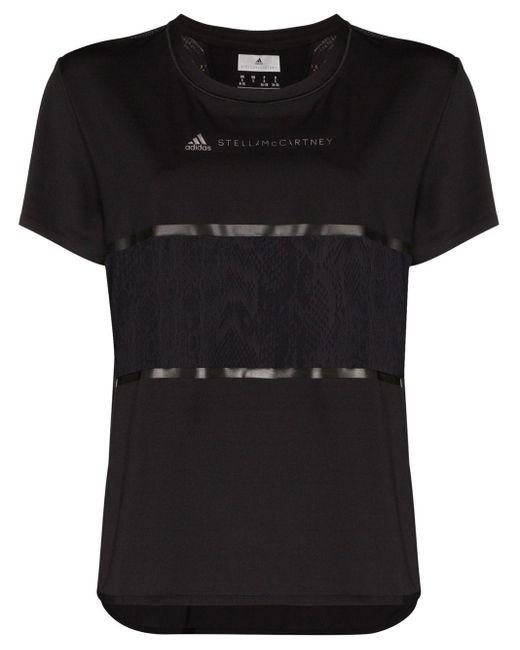 Adidas By Stella McCartney プリント Tシャツ Black