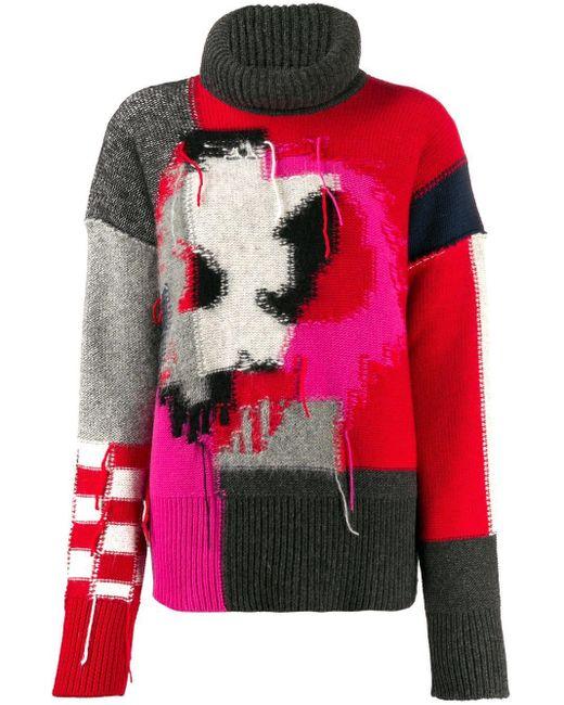 McQ Alexander McQueen パッチワーク セーター Pink