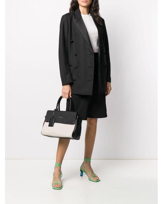 Karl Lagerfeld K/ikon キャンバス ハンドバッグ M Black