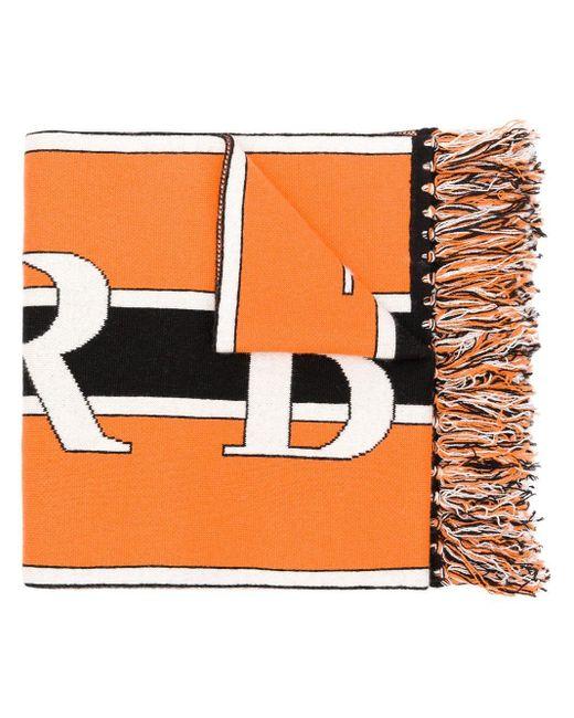 メンズ Burberry カシミア スカーフ Orange
