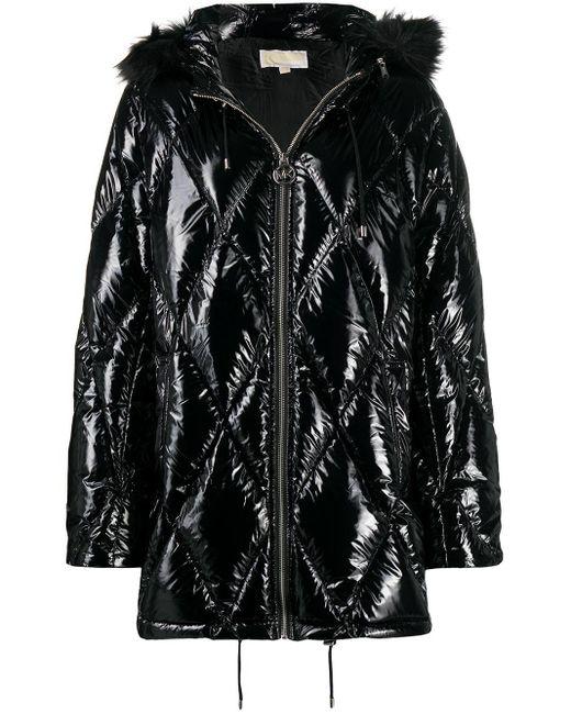 Стеганое Пальто MICHAEL Michael Kors, цвет: Black