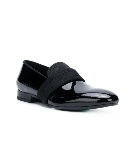 658b376a91c ... Alexander McQueen - Black Quilted Detail Slippers for Men - Lyst ...