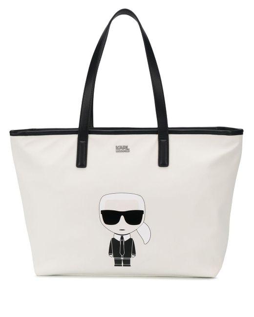 Karl Lagerfeld K/ikonik ハンドバッグ White