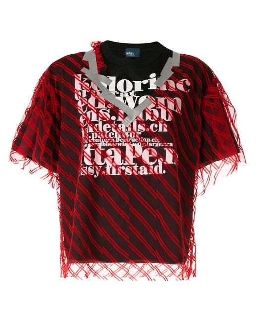 Kolor ダブルレイヤード Tシャツ Red