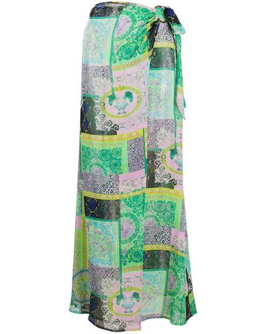 Versace バロッコ パッチワーク サロング Green