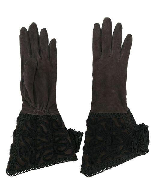 Giorgio Armani Pre-Owned ロング手袋 Black