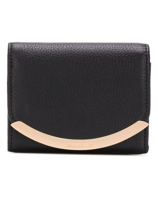 See By Chloé - Black Folded Wallet - Lyst