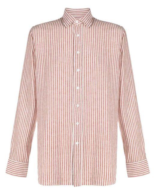 Рубашка В Вертикальную Полоску Lardini для него, цвет: Brown