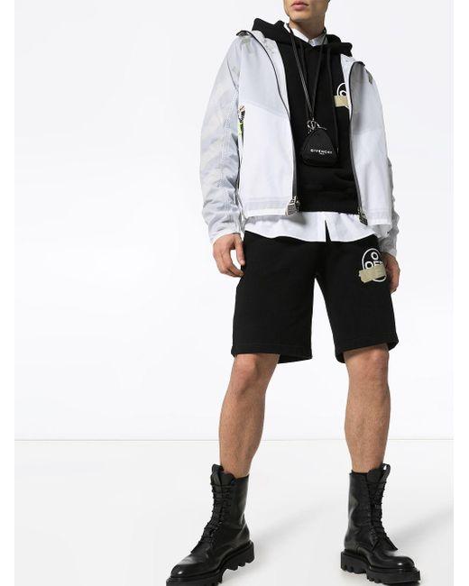 Shorts sportivi con stampa di Off-White c/o Virgil Abloh in Black da Uomo
