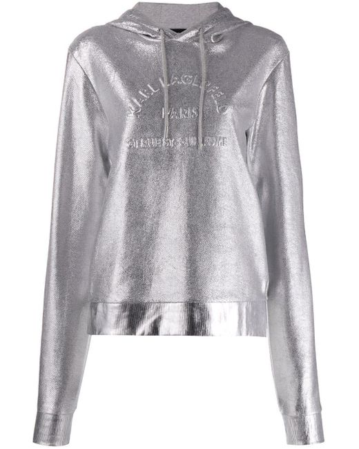 Худи Address С Логотипом Karl Lagerfeld, цвет: Metallic