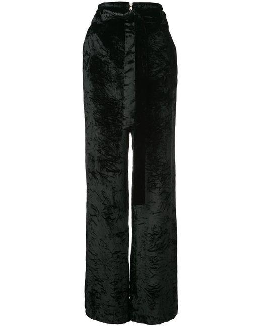 Бархатные Широкие Брюки Proenza Schouler, цвет: Black