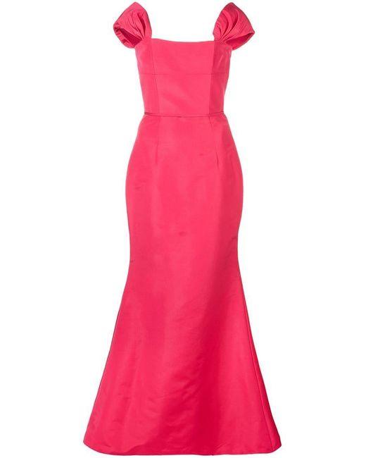 96463c74d0 Carolina Herrera - Red Vestido de noche con hombros descubiertos - Lyst ...