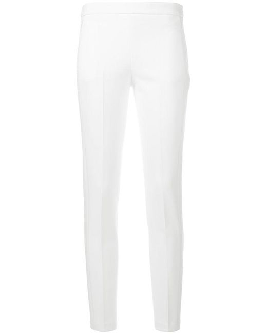 Blumarine | White Slim-fit Cropped Trousers | Lyst