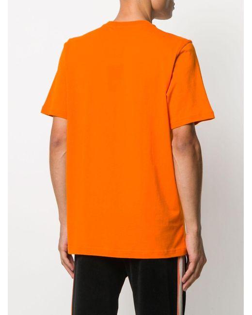 メンズ Adidas ロゴ Tシャツ Orange