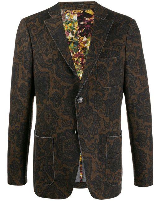 メンズ Etro ペイズリー シングルジャケット Multicolor