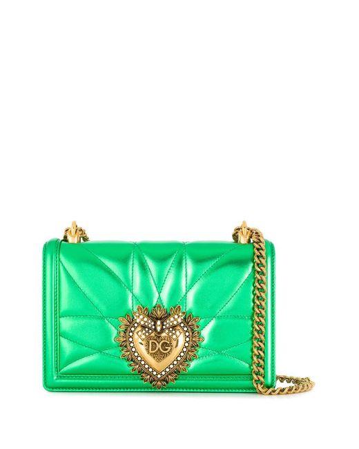 Dolce & Gabbana Devotion ショルダーバッグ M Green