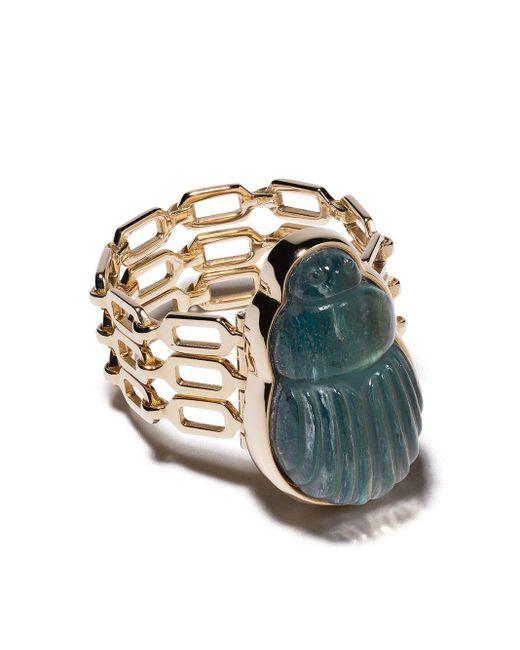 Bague Sienna en or jaune 14ct ornée de diamants Lito en coloris Metallic