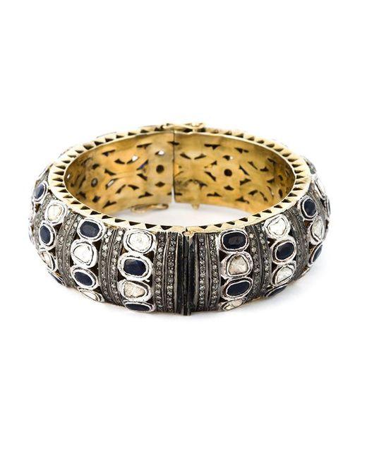 Gemco - Metallic Diamond Embellished Bangle - Lyst