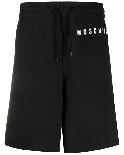 メンズ Moschino ロゴ トラックショーツ Black