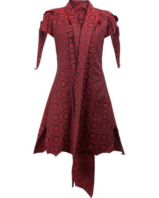 Aganovich - Red Shawl Lapel Shortsleeved Jacket - Lyst