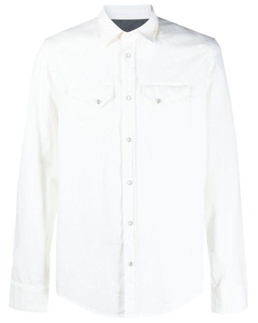 メンズ Dondup スナップボタン シャツ White