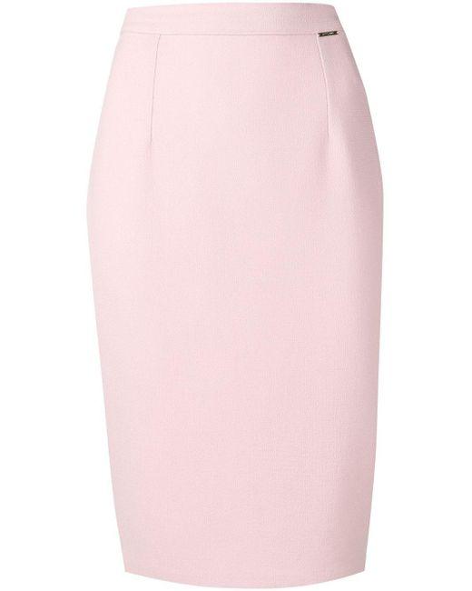 Styland Pink Knee-high Pencil Skirt