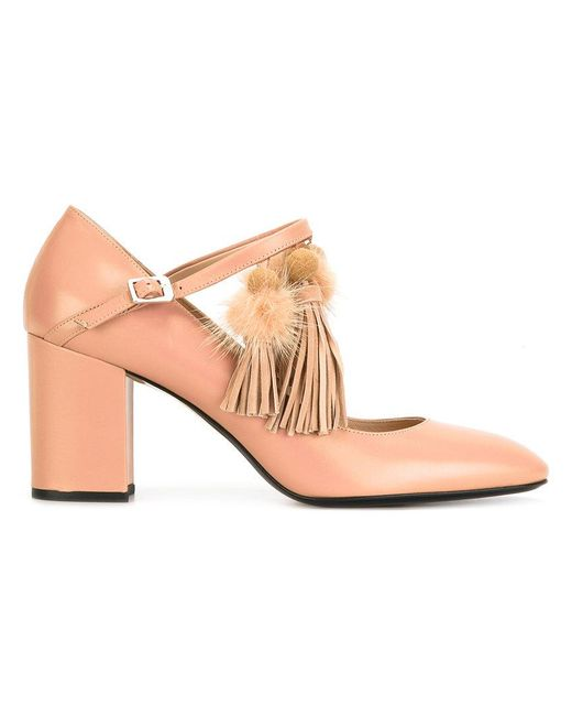N°21 - Natural Nappine Pumps - Lyst