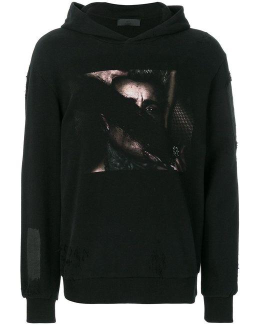 RH45 | Black Long Sleeved Printed Hoodie for Men | Lyst