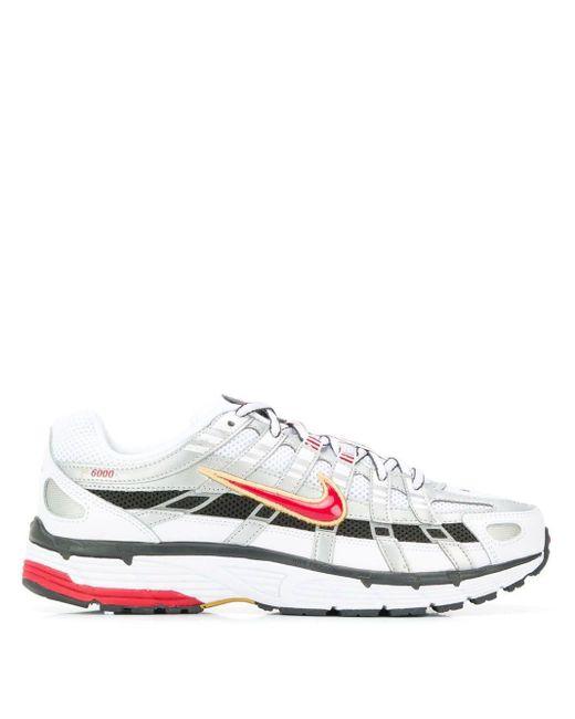 Nike White ' P-6000' Sneakers
