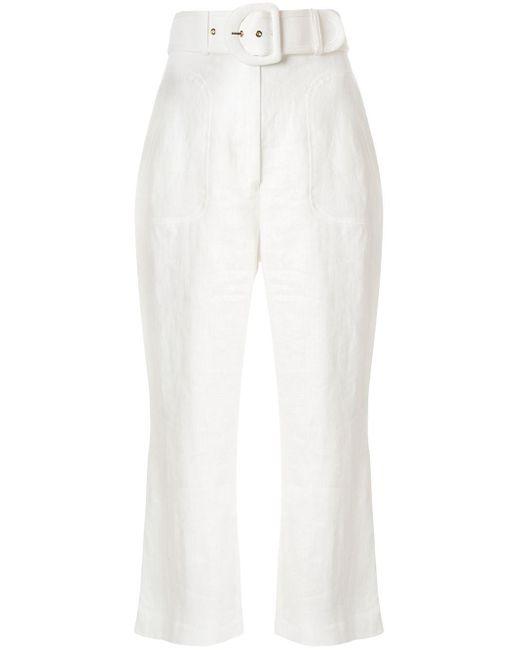 Zimmermann Super Eight フレアパンツ White