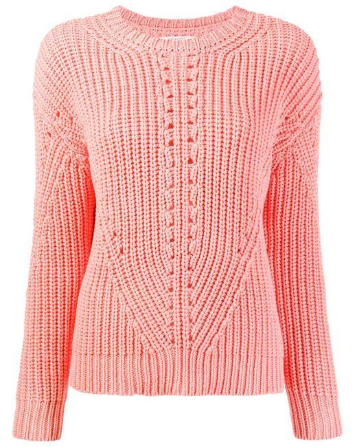 Chinti & Parker リブニット セーター Pink